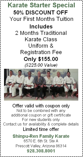 Special Coupon Offer - Karate Class
